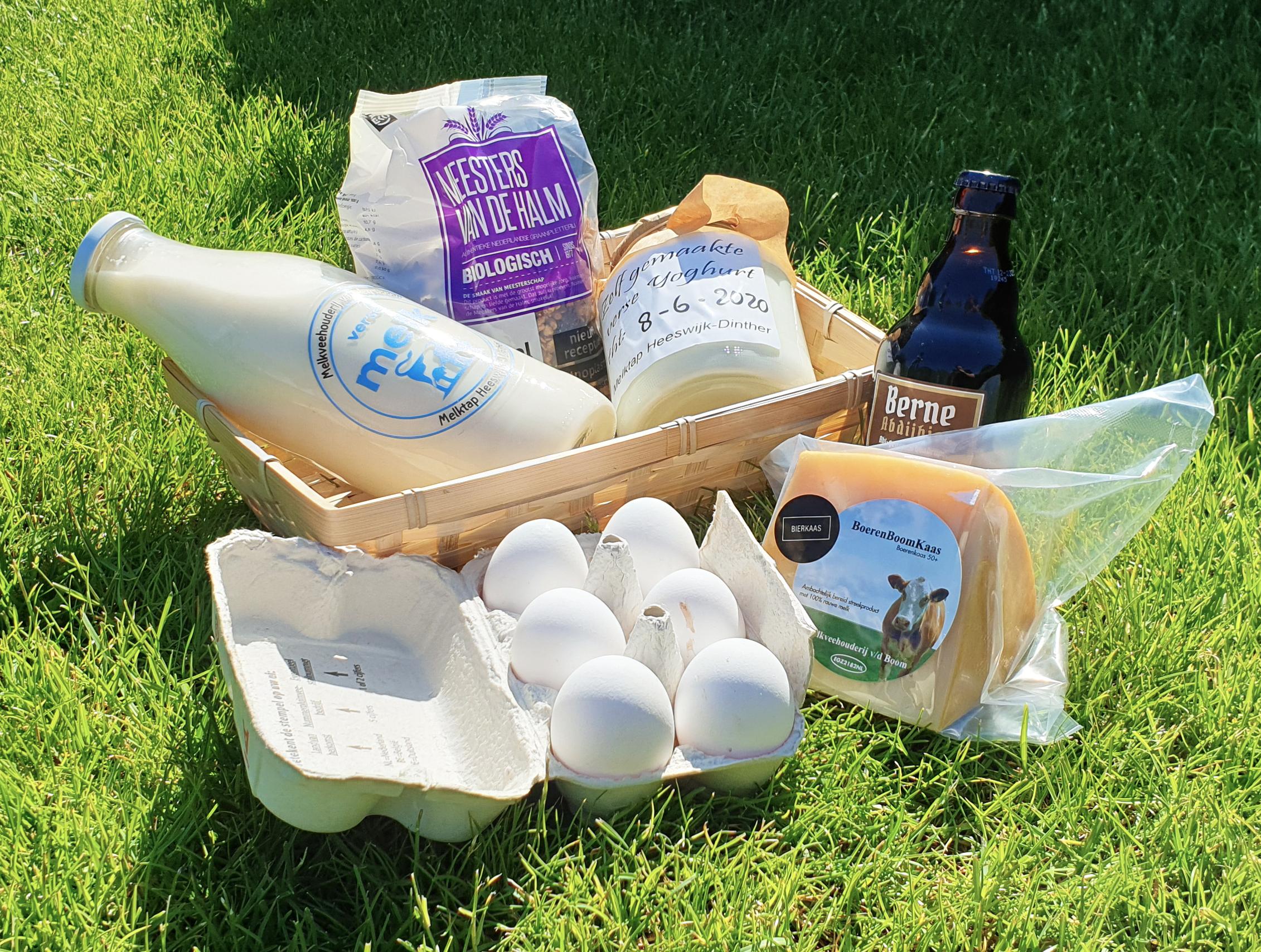 een cadeaupakket of een mooi relatiegeschenk, zelfs en kerstpakket, het is allemaal mogelijk bij melktap heeswijk dinther.