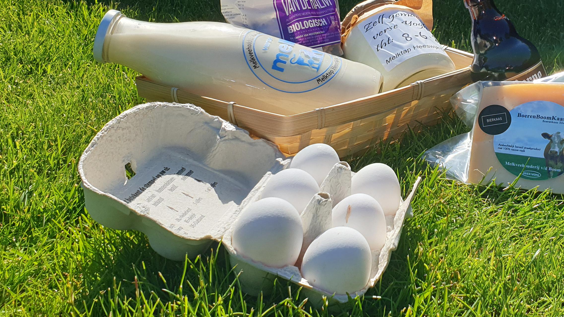 Ook te koop bij melktap heeswijk dinther, heerlijke verse eitjes
